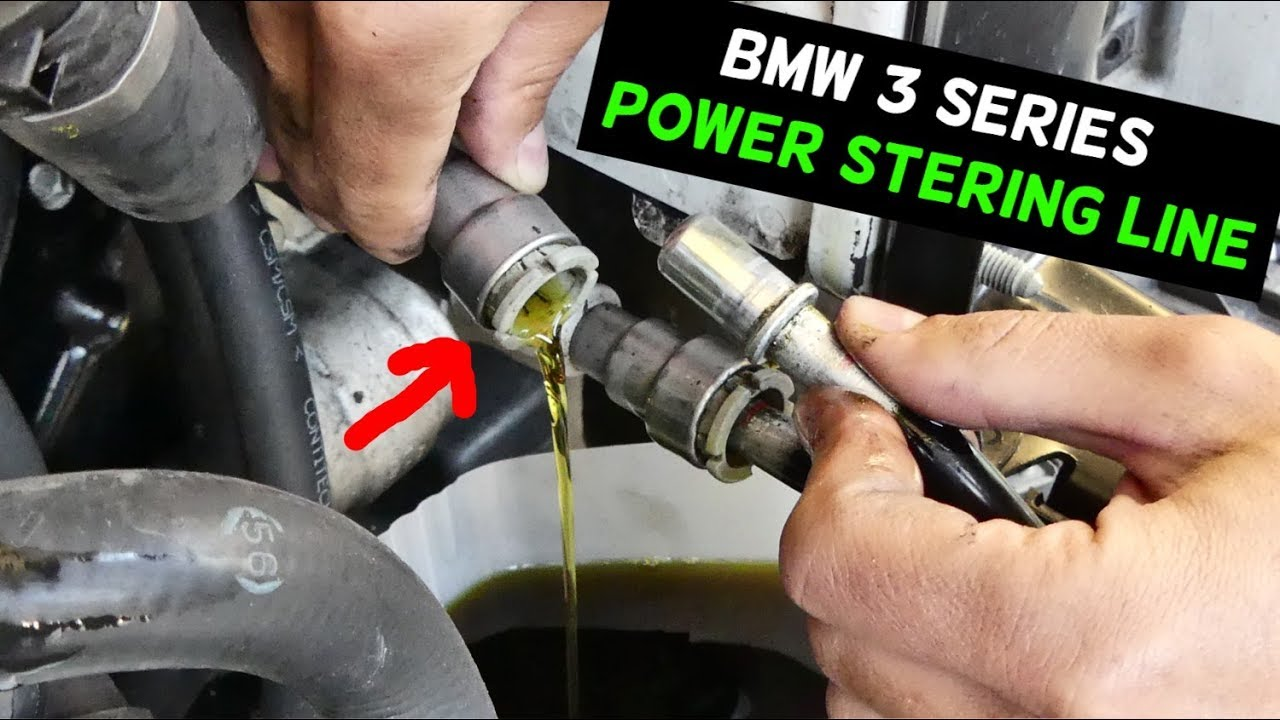 bmw e90 e91 e92 e93 how to disconnect power steering line hose youtubebmw e90 e91 e92 e93 how to disconnect power steering line hose