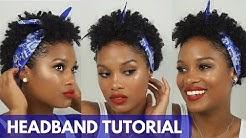 Natural Hair Headband Tutorial || Alyssa Marie
