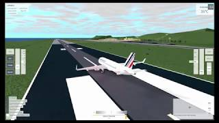 roblox flight simulator. perfect landing