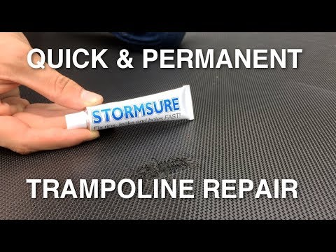 How To Fix A Trampoline Mat With Stormsure | CHEAP & EASY