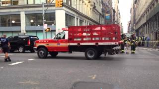 FDNY PURPLE-K UNIT TAKING UP FROM 2 ALARM ELECTRICAL FIRE AT PATH STATION IN MANHATTAN, NEW YORK.