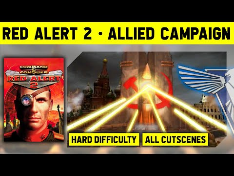 C&C Red Alert 2 - Allied Campaign on Hard - No Commentary With Cutscenes [1080p]