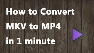 2018 NEW - How to Convert MKV to MP4 in 1 Minute