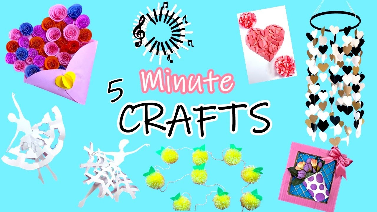 5 Minute Crafts To Do When You Are Bored & Stuck at HOME