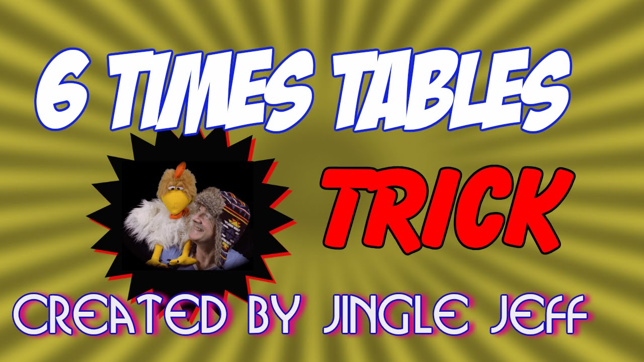 worksheet 6 Times 12 6 times table tables 1 12 learn with jingle jeff
