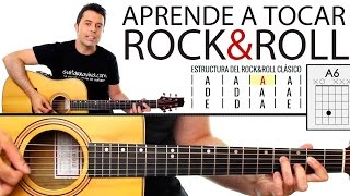 Aprende a tocar Rock & Roll en guitarra! paso a paso y muy f...