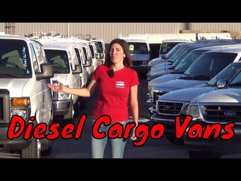 2008 ford e350 cargo van extended 6 0l turbo diesel a85636 seewhatsin com cargo vans youtube. Black Bedroom Furniture Sets. Home Design Ideas