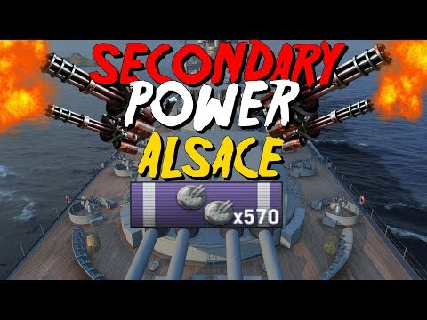 Alsace | Engine Boost going, secondaries roaring, and running from the cops || World of Warships