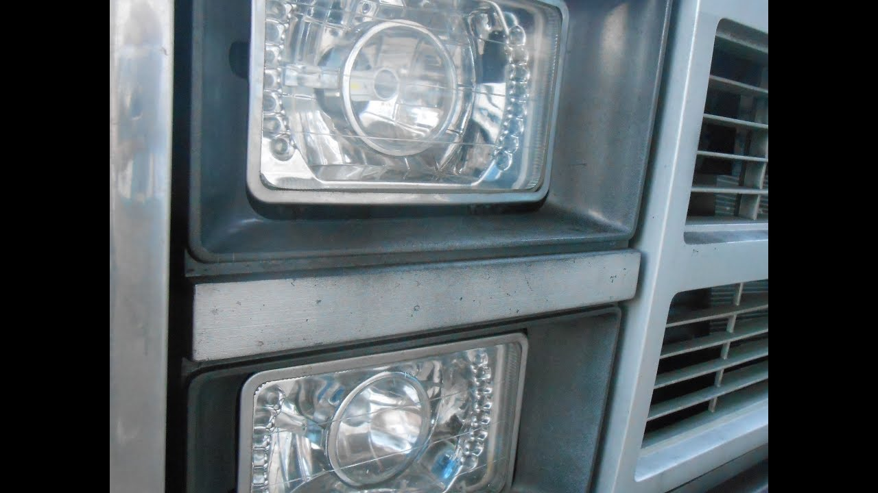 Ebay H4 Headlight Conversion Kit For 4x6 Lights And Wiring Install Chevy Truck Harness Reveiw