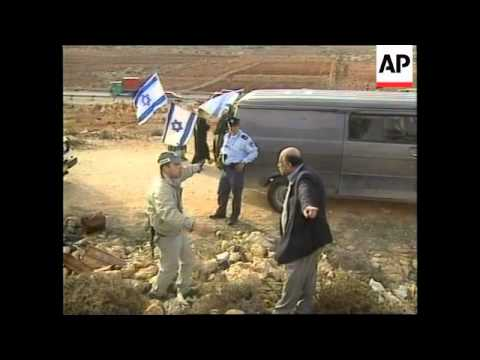 WEST BANK: JEWISH SETTLERS/PALESTINIANS: TENSIONS