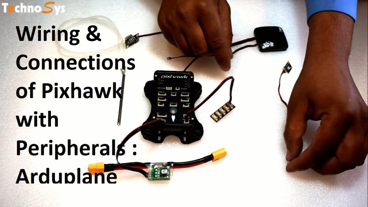 Wiring & Connections Of Pixhawk With Peripherals : Arduplane - YouTube