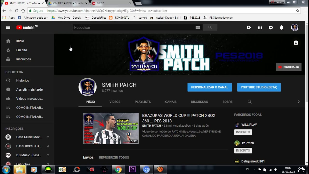 On Fire Patch !!! Pes 2018 - Licencia Times, Uniformes, Chuteiras Mais     (Xbox 360)  Smith Patch 05:22 HD
