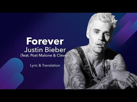 Justin Bieber - Forever (feat. Post Malone & Clever) (English & Spanish Lyrics / Letra En Español)