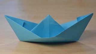 Кораблик оригами из бумаги своими рукам. Обучающее видео для детей. DIY Origami Ship(Учимся как делать своими руками кораблик оригами! Этот кораблик из бумаги можно смело пускать по ручейкам..., 2016-04-04T19:17:25.000Z)