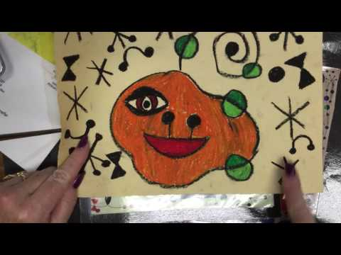 How to Draw a Joan Miro Style Art Pumpkin.