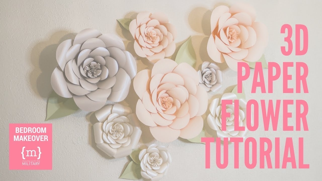 3d paper flower tutorial youtube 3d paper flower tutorial mightylinksfo
