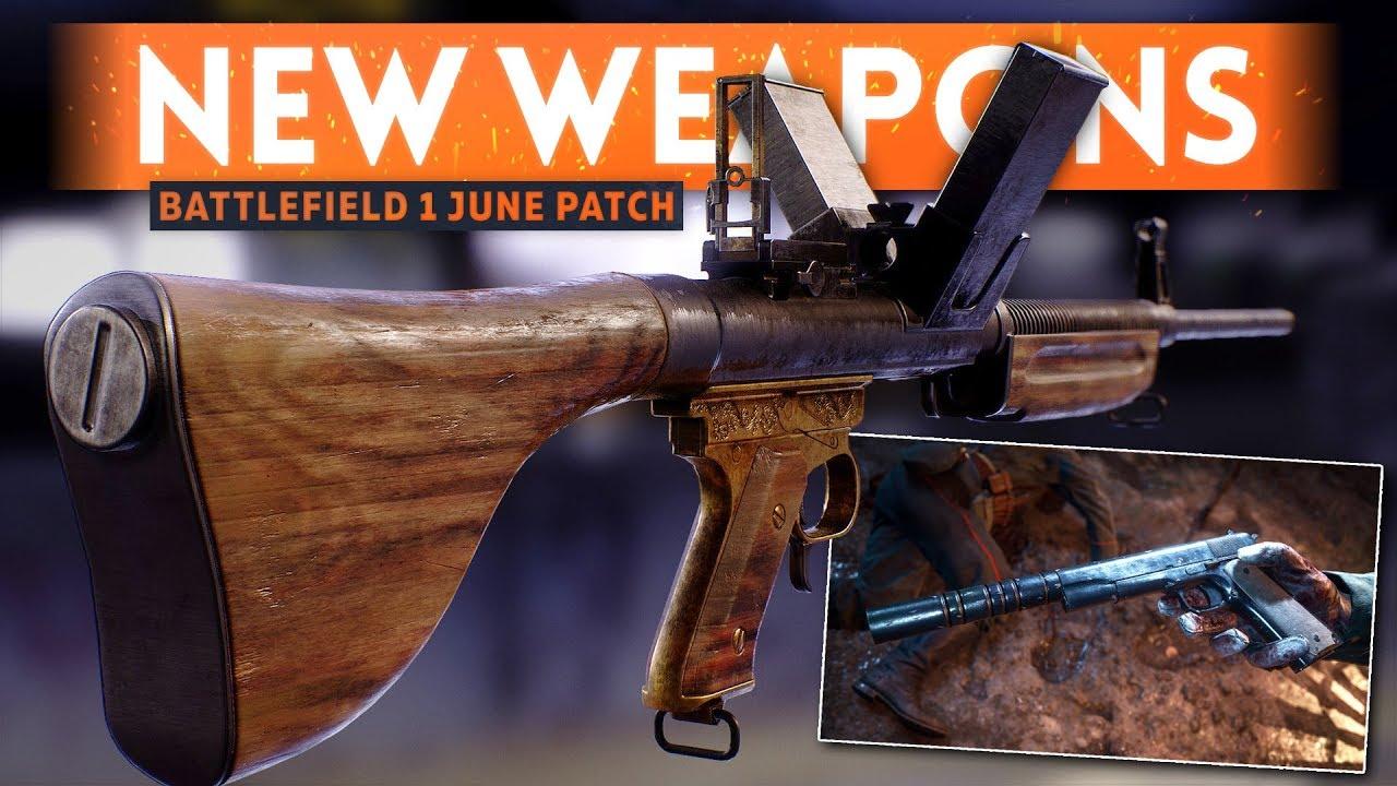 UNLOCK NEW BATTLEFIELD 1 WEAPONS: Burton LMR & SILENCED M1911 Pistol! - BF1 June Patch Weapon Guide
