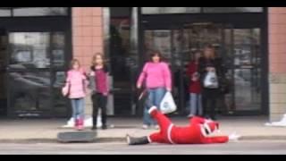 Public Pranks: Santa Falling Skateboarder!