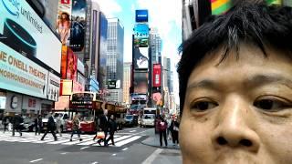 12/13 ニューヨーク旅行 4日目 3【2017年5月15日】タイムズスクエア満喫 ブロードウェイ×7番街交差点 人種のるつぼ インチキ商売人だらけ thumbnail