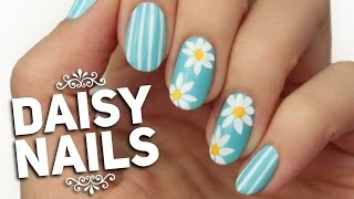 Spring Daisy Nail Art Design