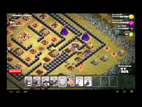 Clash Of Clans Level 50  Sherbert Towers 3 Stars