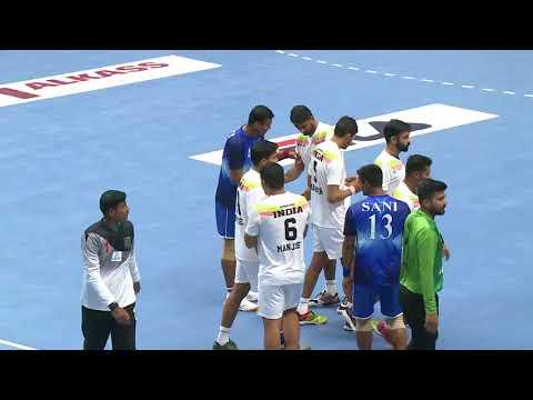 180120 18th Asian Men's Handball Championship 2018 Bangladesh  vs India