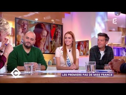 Maëva Coucke (Miss France) et Jérôme Commandeur - C à Vous - 08/01/2018