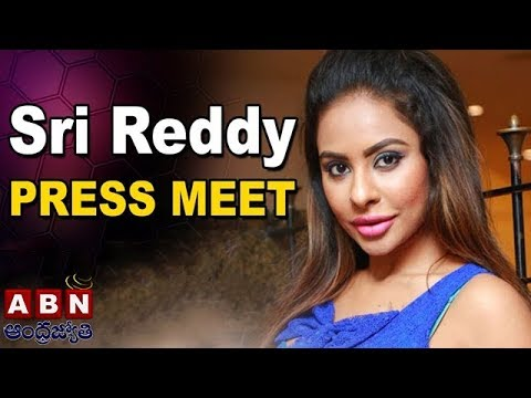 Actress Sri Reddy Press Meet Over Casting Couch At Somajiguda Press Club | ABN Live