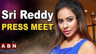 Actress Sri Reddy Press Meet Over Casting Couch At Somajiguda Press Club | ABN Telugu