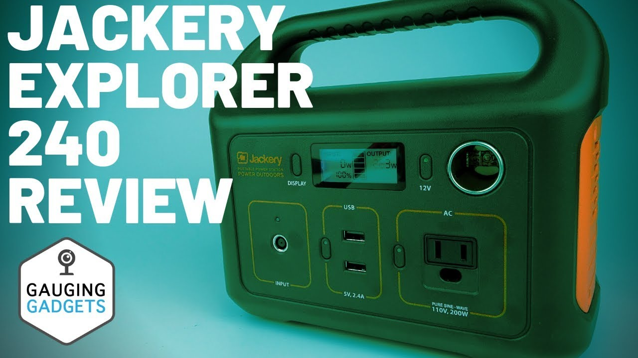 Jackery Explorer 240 Review - Portable Power Station and Solar Generator