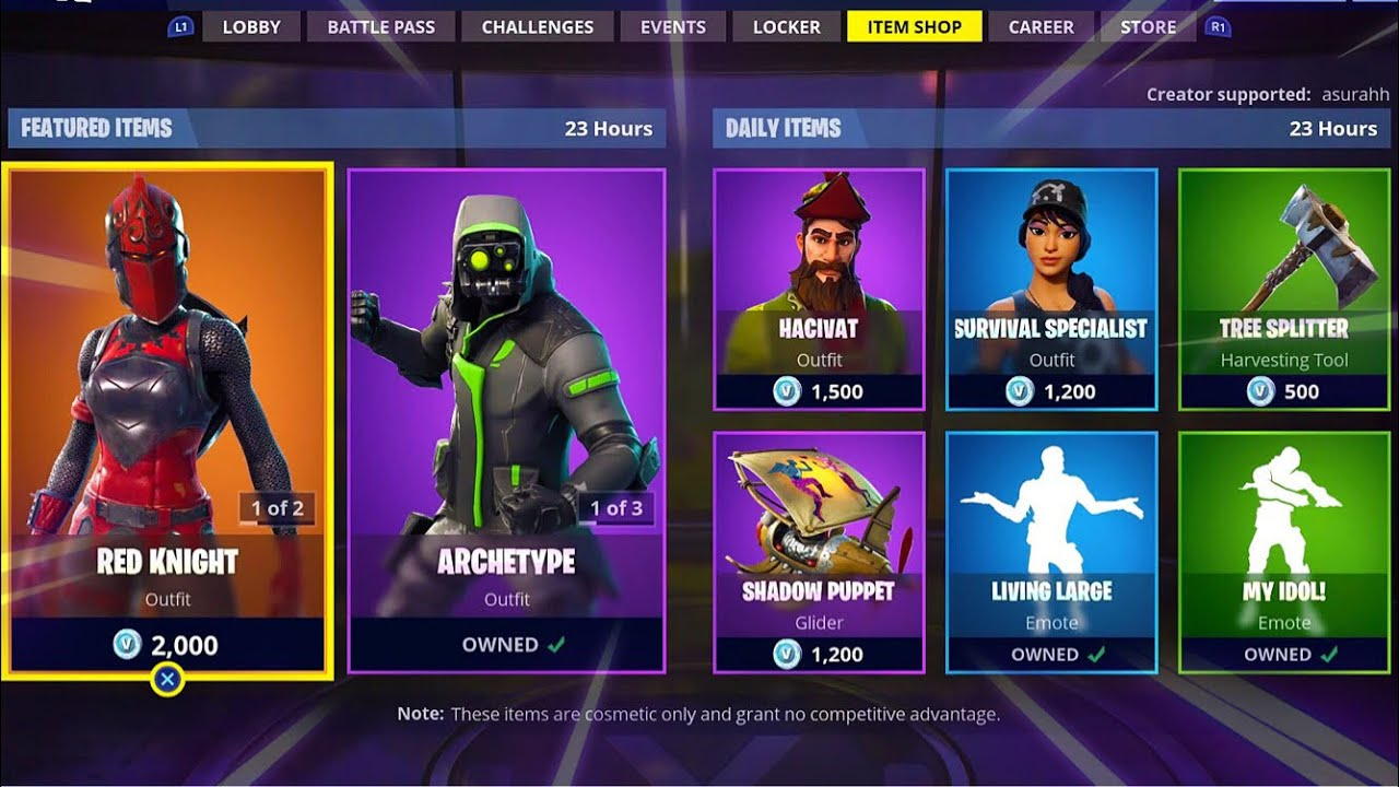 Red Knight Archetype Hacivat Living Large Item Shop In