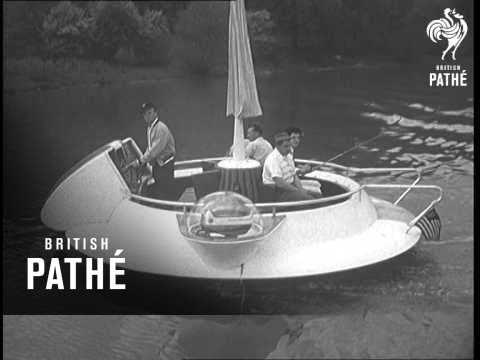 """Selected Originals – News From America – Waterborne """"Flying Saucer"""" Boat Aka Fishing Saucer (1957)"""