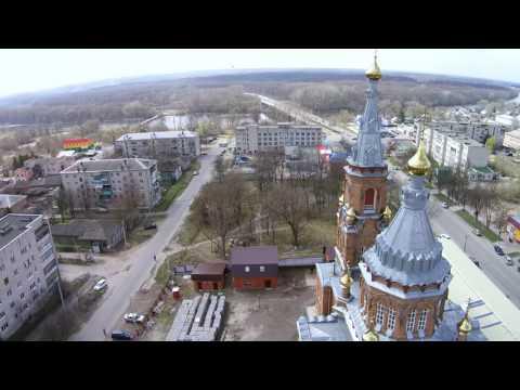 Льгов, церковь св.Николая, полет 8-апр-2017г.