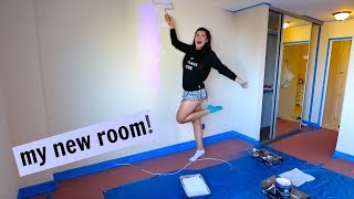 Painting my new room! Moving in to my apartment
