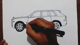 How to draw Rolls Royce Cullinan