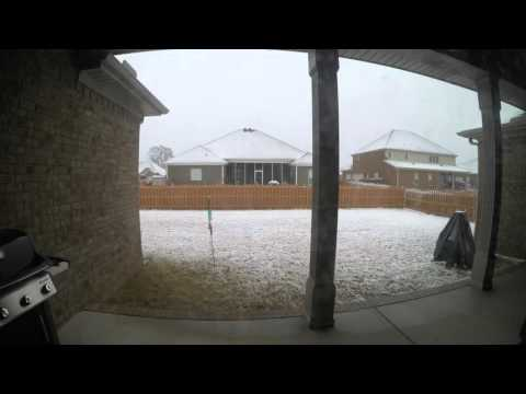 Huntsville Snowfall - Jan. 22, 2016