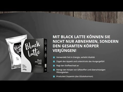 black latte zum abnehmen
