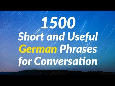 1500 Short and Useful German Phrases for Conversation
