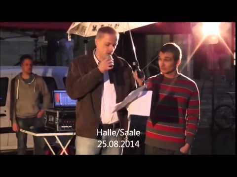 Reichsbürger Holger Fröhner über Xavier Naidoo (Montagsdemo)