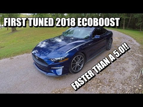 TUNED 2018 MUSTANG ECOBOOST 10 Speed Auto REVIEW!! Faster than a 5.0??