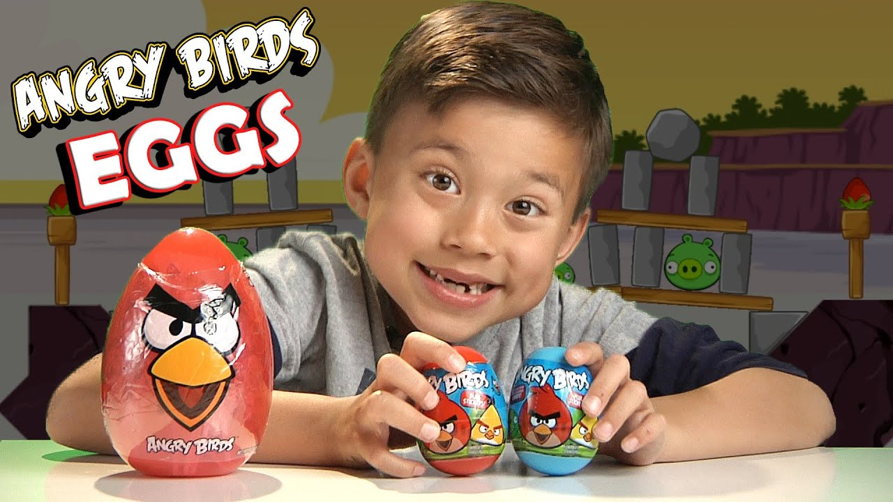 Download ANGRY BIRDS EASTER EGGS! What surprise is inside??? JUMBO EGG Unboxing!