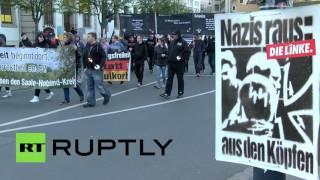 В Германии марш ультраправых в честь дня рождения Адольфа Гитлера закончился беспорядками