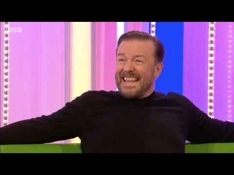Ricky Gervais on The One Show. Humanity...BBC. 9 Mar 2018