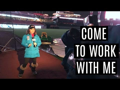 Behind the Scenes as a TV News Reporter | COME TO WORK WITH ME