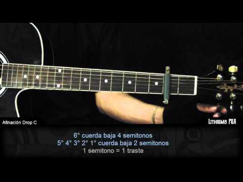 ¿Como afinar la guitarra en Drop C?  La forma más fácil