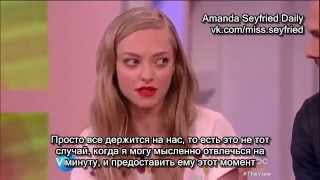 "Amanda Seyfried and Thomas Sadoski, ""The View"" 22.05 (Rus Sub)"