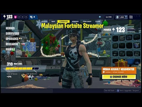 [PVE] Save The World | Fortnite | [PL123+] | Enforcer Grizzly | Play With Random EU Server