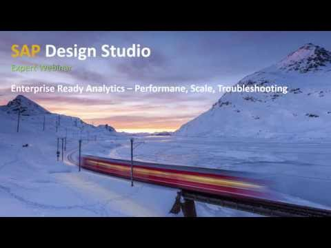 SAP BusinessObjects Design Studio: Enterprise-Ready Analytics Performance Scale Troubleshooting