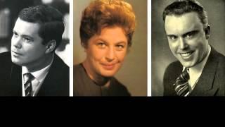 Weihnachtslieder- Kreis: Elisabeth Grümmer, Walther Ludwig, Dietrich Fischer-Dieskau