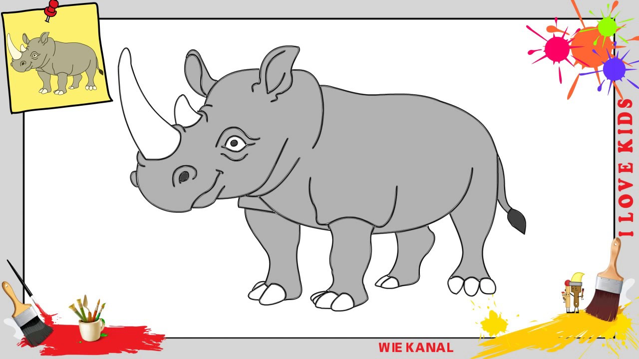 Nashorn Zeichnung
